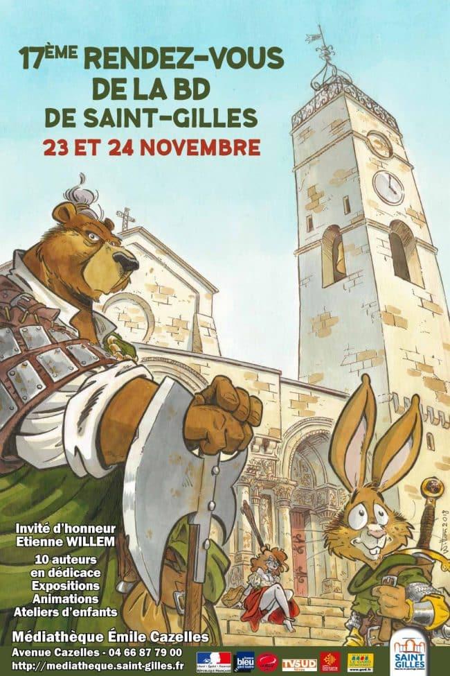 Rendez-vous BD de Saint-Gilles, c'est le vendredi 23 et samedi 24 novembre 2018 avec Willem
