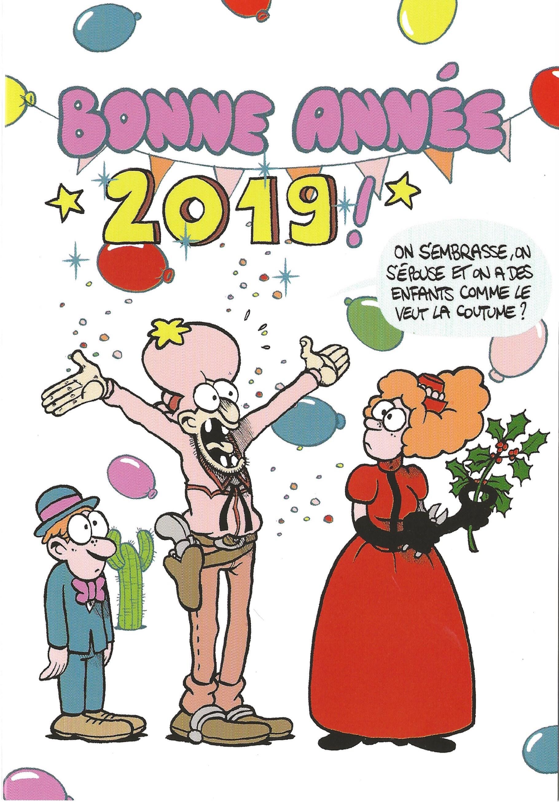 Fabcaro et Fabrice Erre vous souhaitent une belle année 2019 avec Walter Appleduck