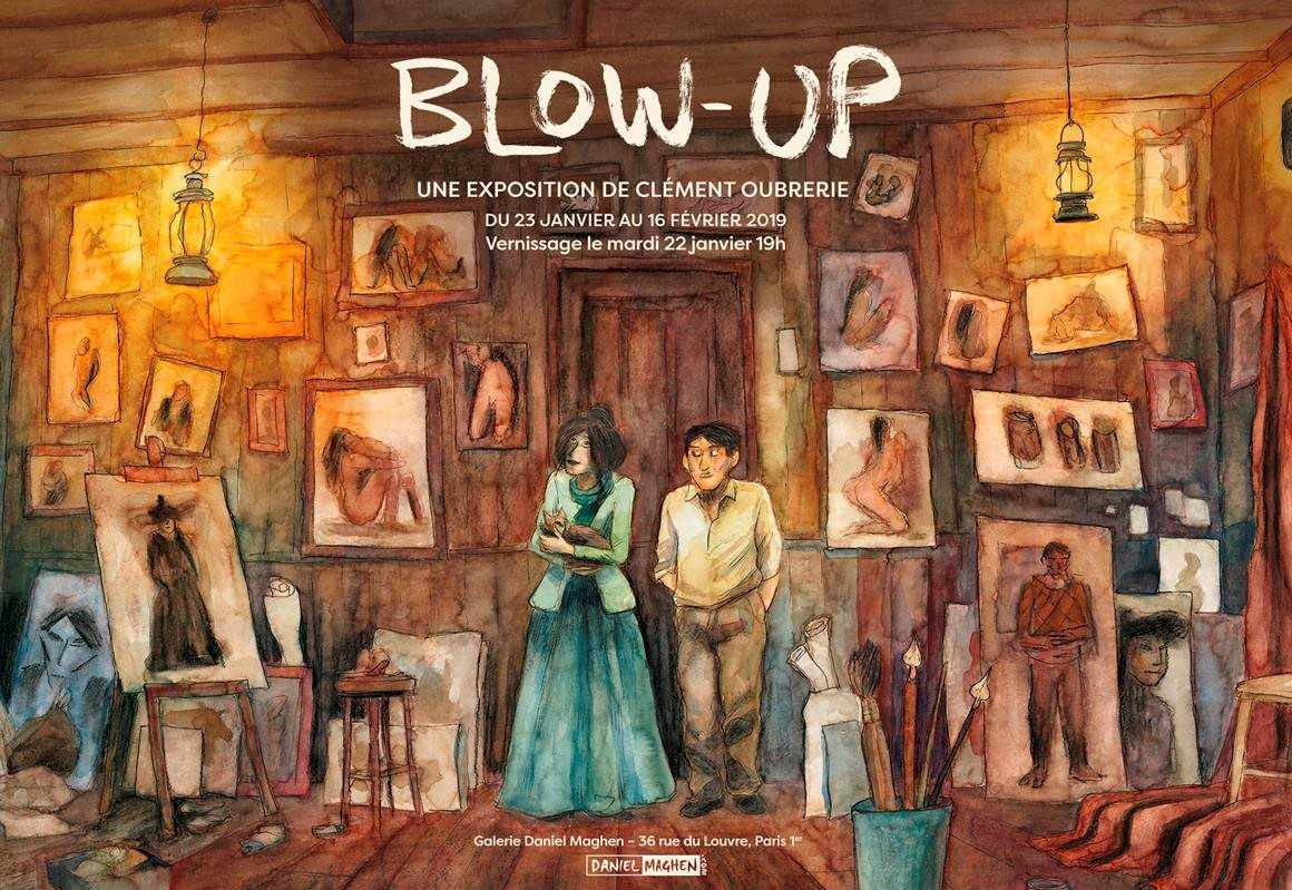 """Clément Oubrerie chez Maghen revisite Pablo et Aya pour son exposition """"Blow-Up"""" dès le 22 janvier"""