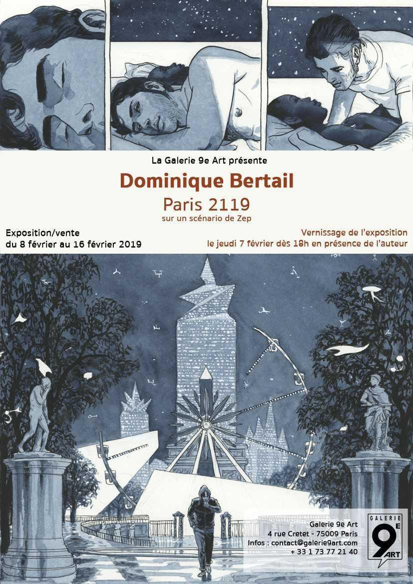Dominique Bertail expose Paris 2119 à la Galerie du 9e Art dès le 8 février