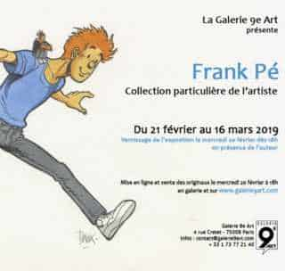 Frank Pé expose sa collection privée à la galerie du 9e Art à Paris