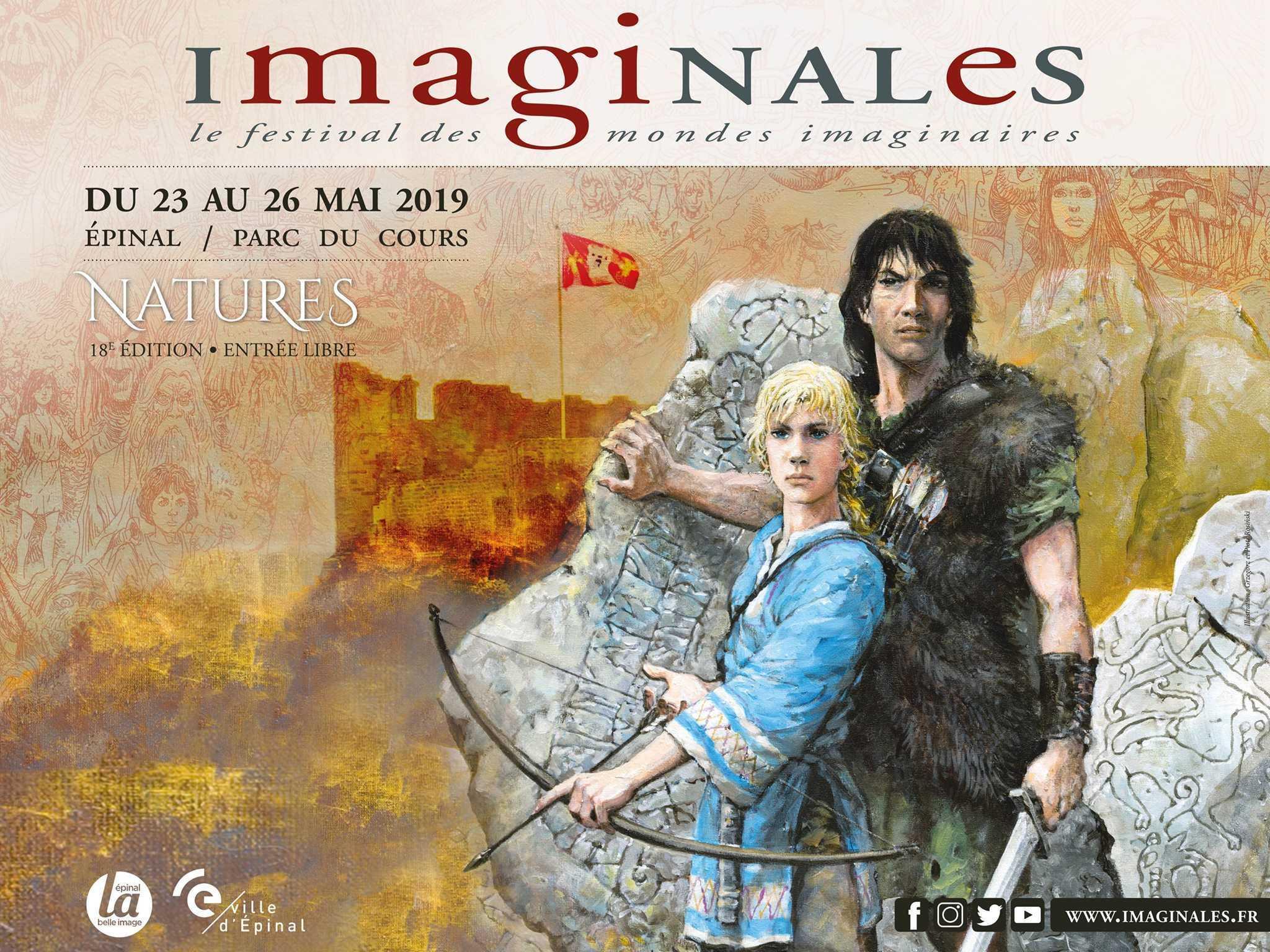 Les Imaginales, festival des mondes imaginaires du 23 au 26 mai 2019 à Épinal