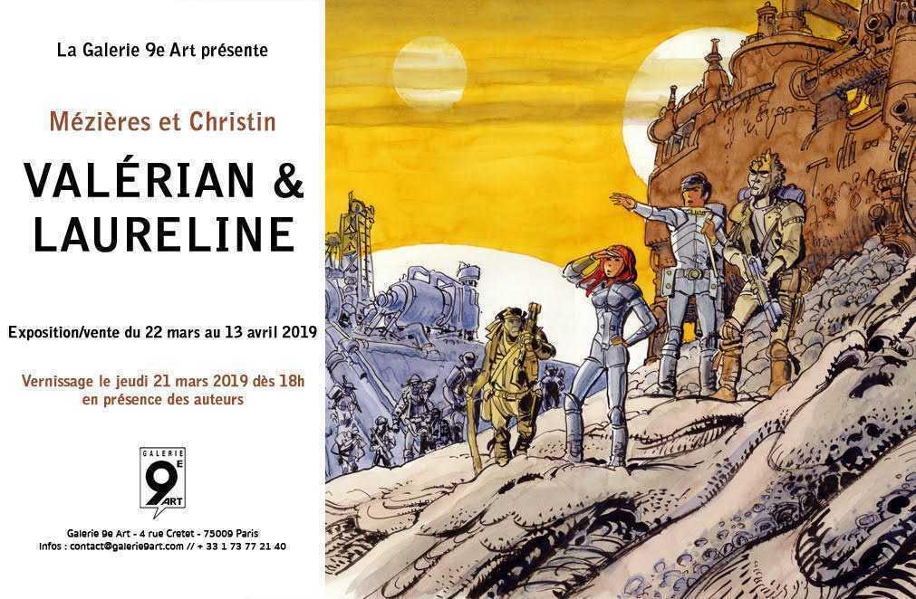 Valérian et Laureline fêtent le printemps en s'exposant à la galerie du 9e Art à Paris