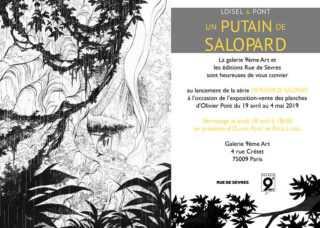 Avec Putain de salopard, Olivier Pont s'expose galerie du 9e Art à Paris dès le 19 avril 2019