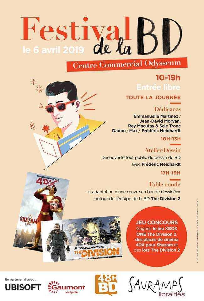 Pour les 48h de la BD, Sauramps Odyssée fait la fête le 6 avril à Montpellier