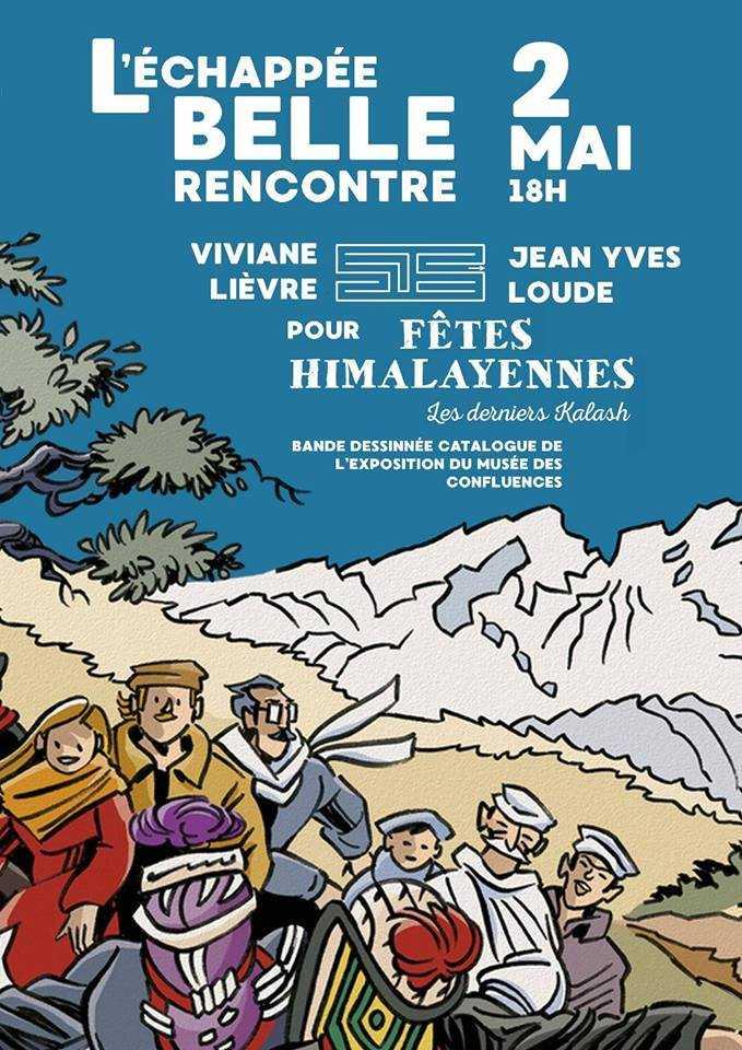 A Sète, chez l'Echappée Belle, Jean-Yves Loude et Viviane Lièvre le 2 mai pour Fêtes Himalayennes : les derniers Kalash