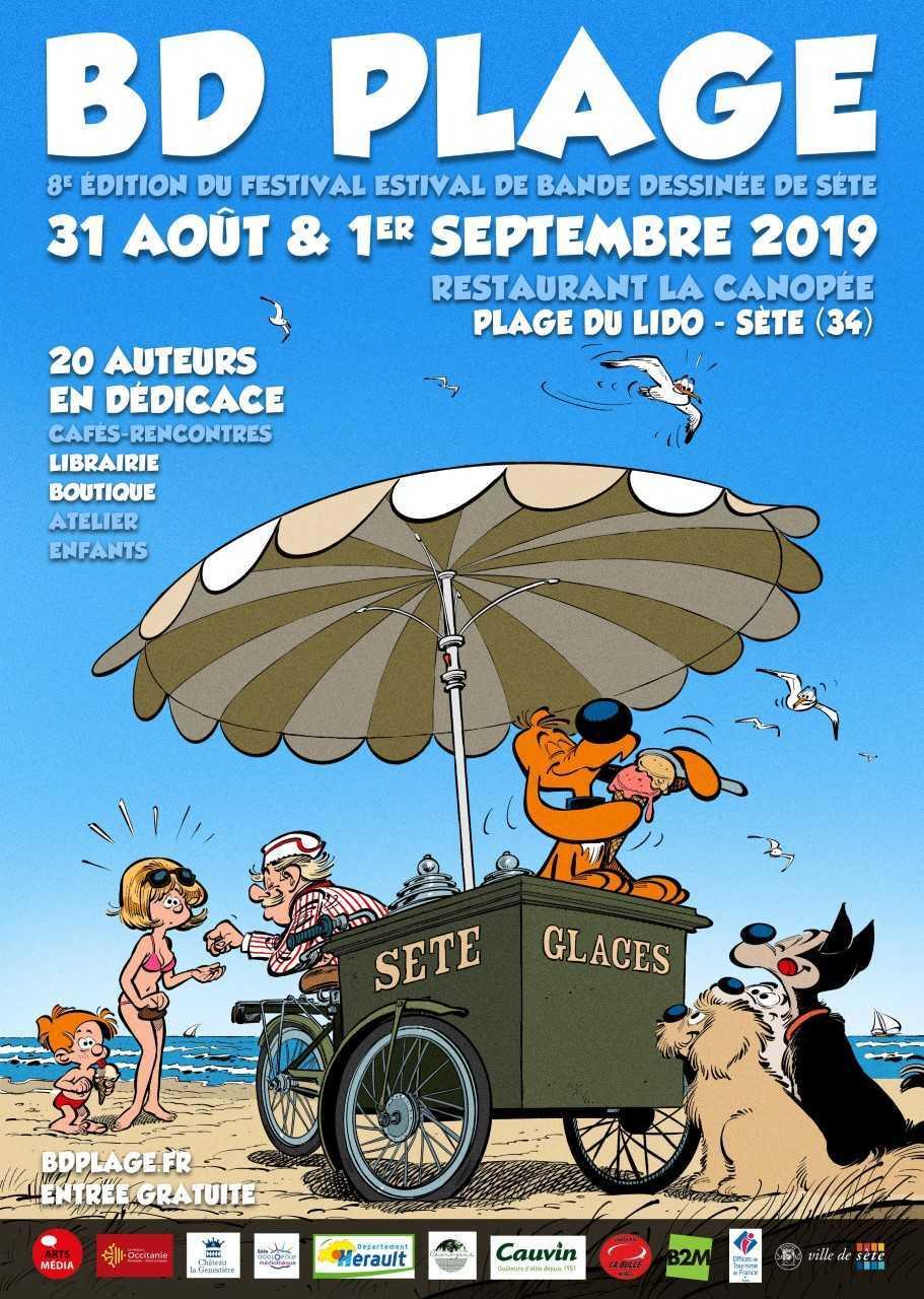 BD Plage 2019 à Sète, l'affiche est prête