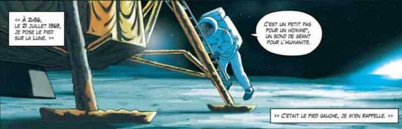 Les premiers pas de l'homme sur la Lune