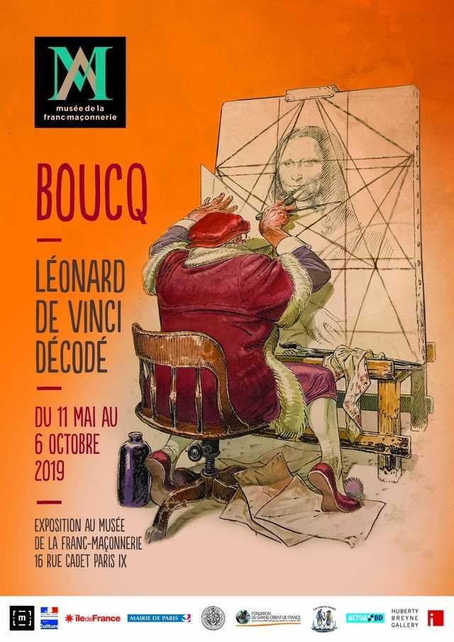 Boucq : Léonard décodé au Musée de la Franc-Maçonnerie à Paris du 11 mai au 6 octobre 2019