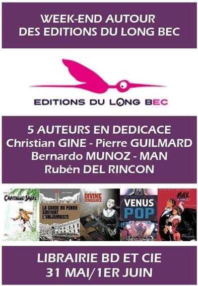 31 mai et 1er juin 2019, BD et Cie à Narbonne se met à l'heure des éditions du Long Bec