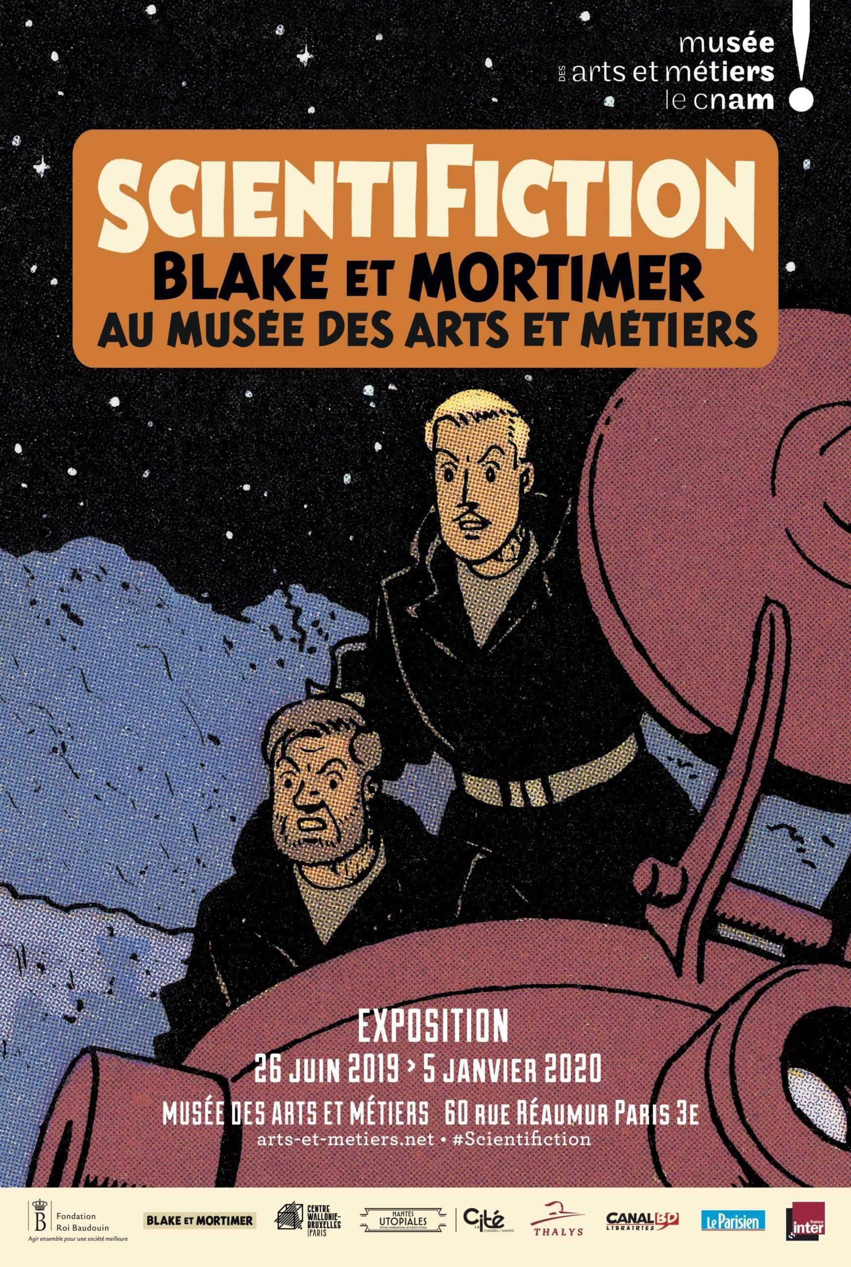 Scientifiction, Blake et Mortimer au musée des Arts et Métiers pour une exposition exceptionnelle dès le 26 juin 2019