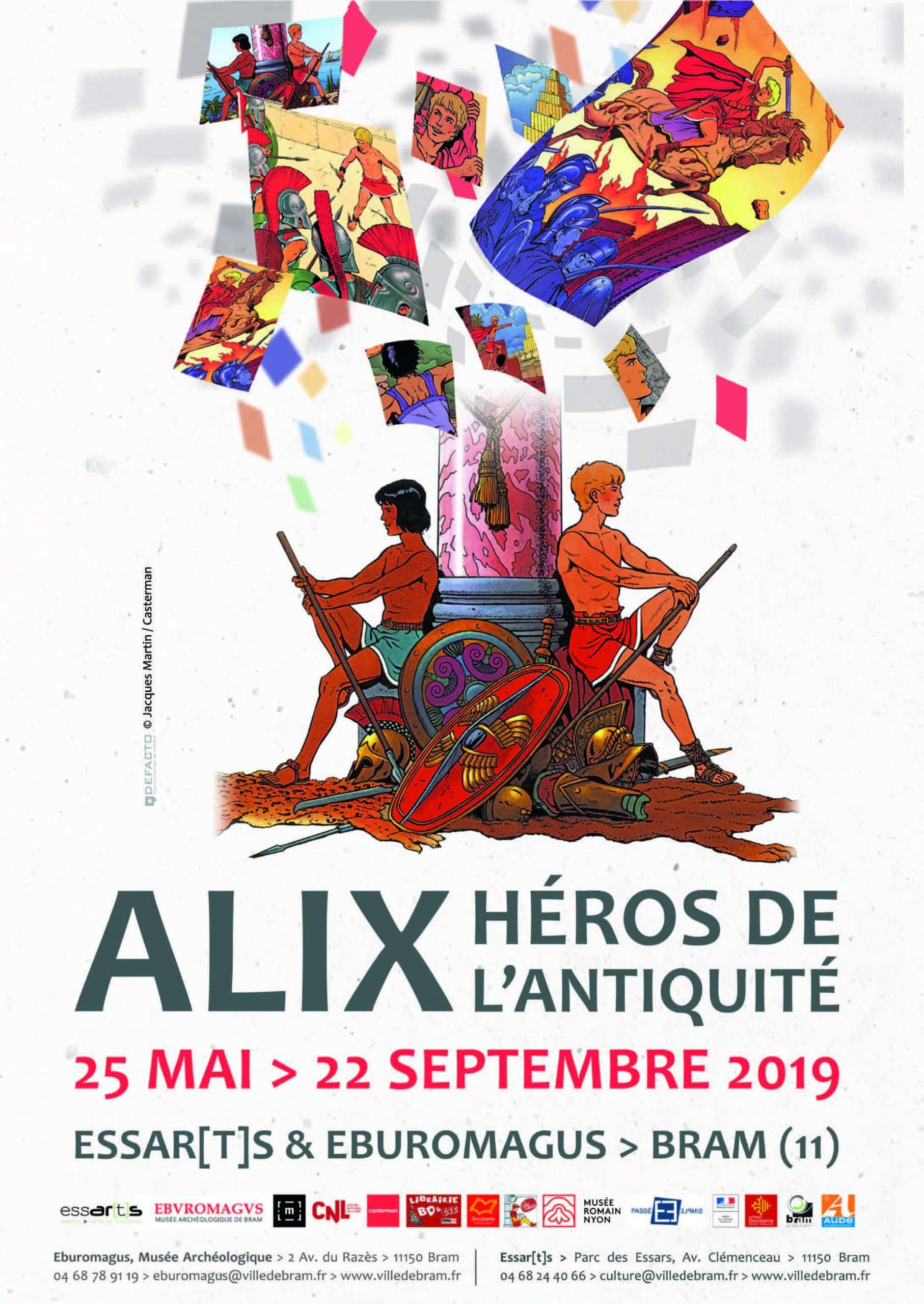 Alix fait étape à Bram dans l'Aude pour une exposition jusqu'au 22 septembre 2019