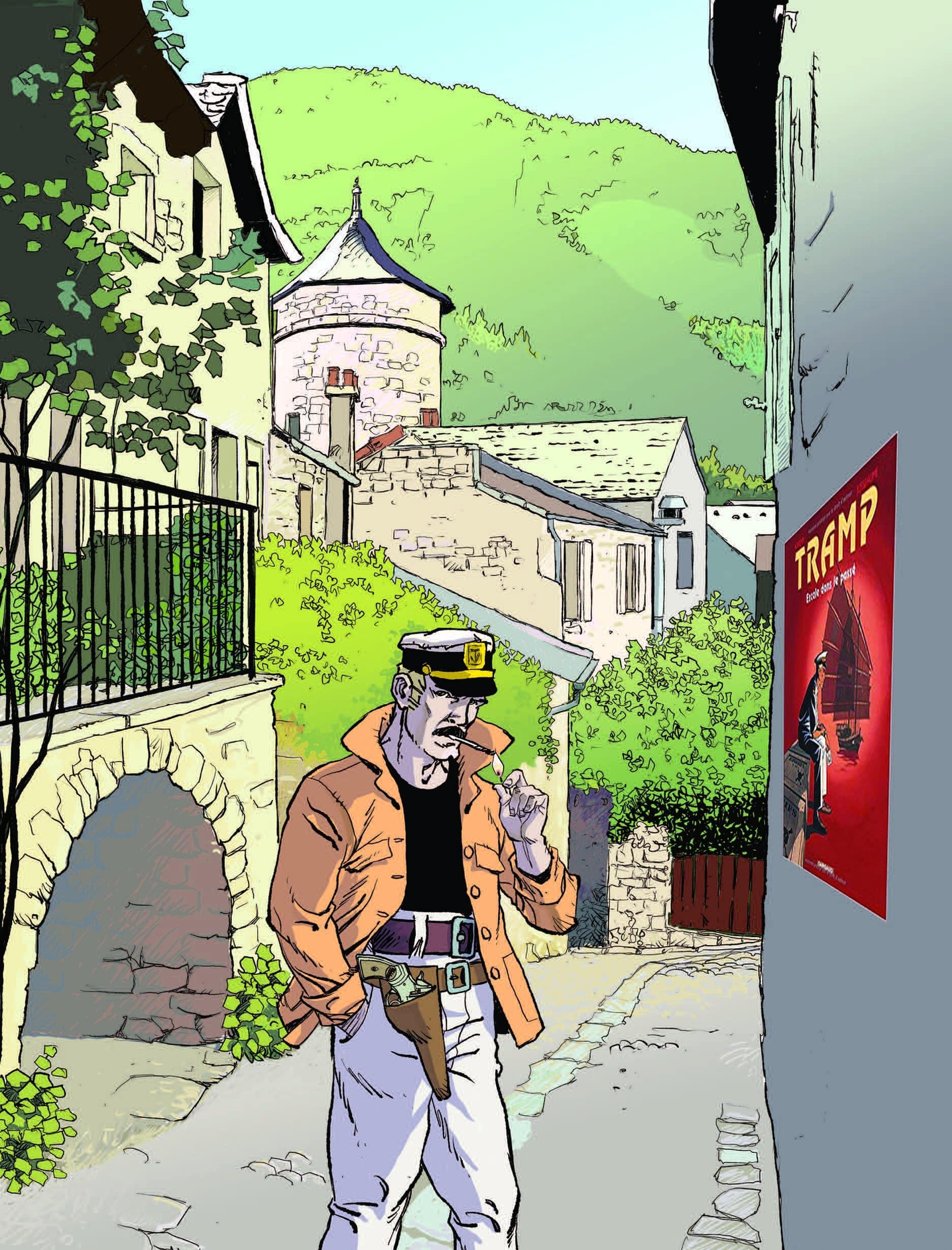 Gine récompensé à Sainte-Enimie pour Sir Ginel par le prix Bulles de Burle et le prix Légendes à l'oeuvre de Patrick Jusseaume