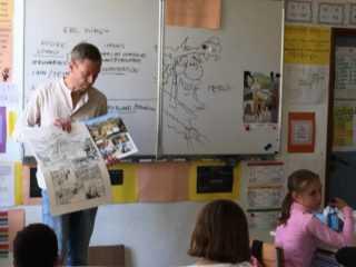 Avant le Festival de Sainte-Enimie 2019, Hübsch et la BD ont parcouru les établissements scolaires de la Lozère