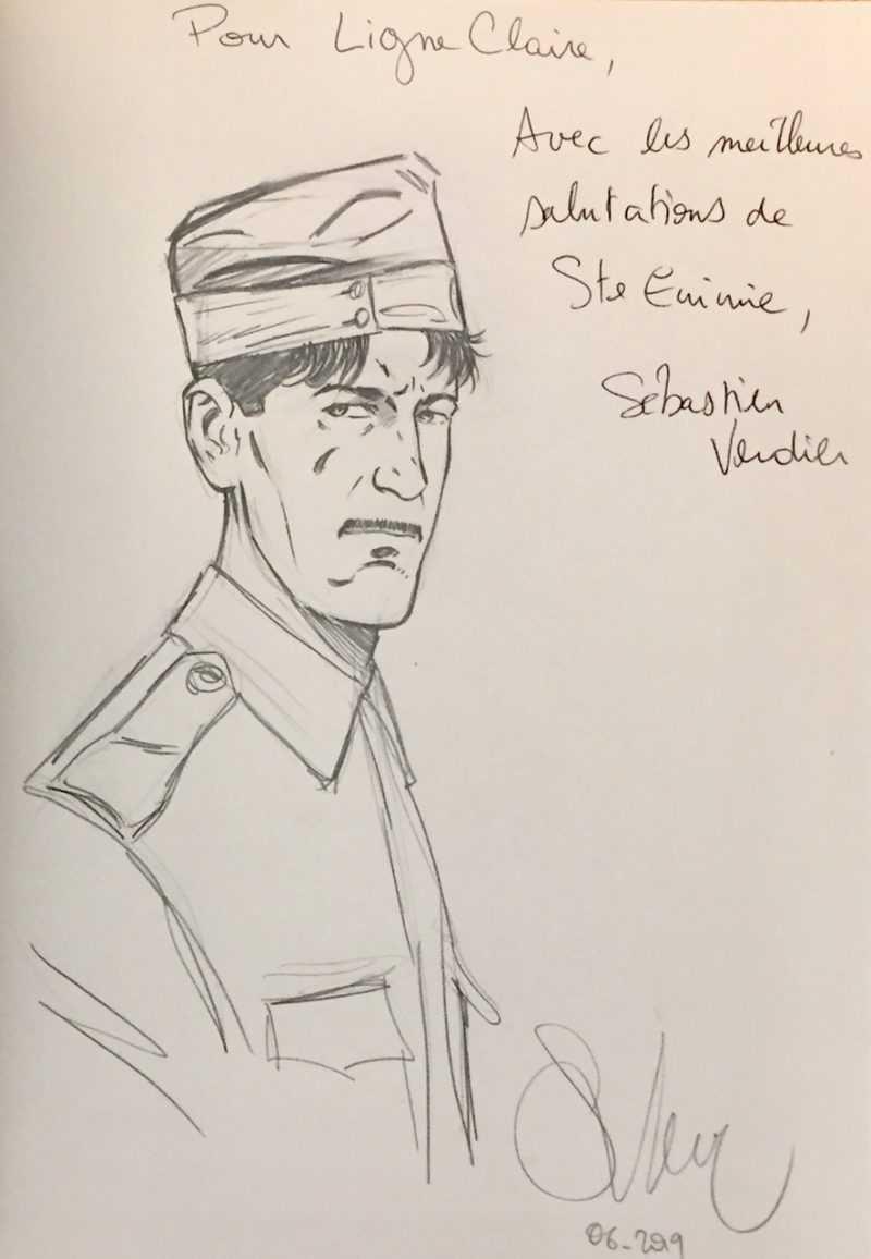 Dédicace de Sébastien Verdier