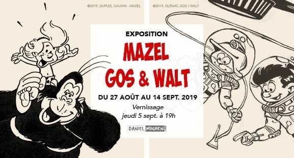 Gos, Walt avec Le Scrameustache et Mazel exposent chez Maghen à la rentrée dès le 27 août 2019
