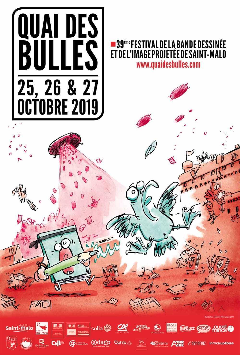 Marion Montaigne a signé l'affiche de la 39e édition de Quai des Bulles 2019