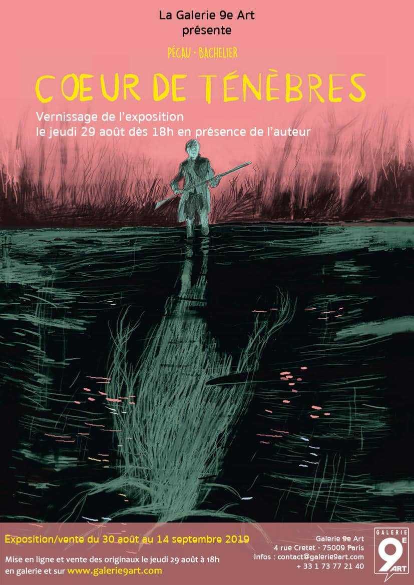 Benjamin Bachelier s'expose pour Cœur de ténèbres galerie du 9e art à Paris