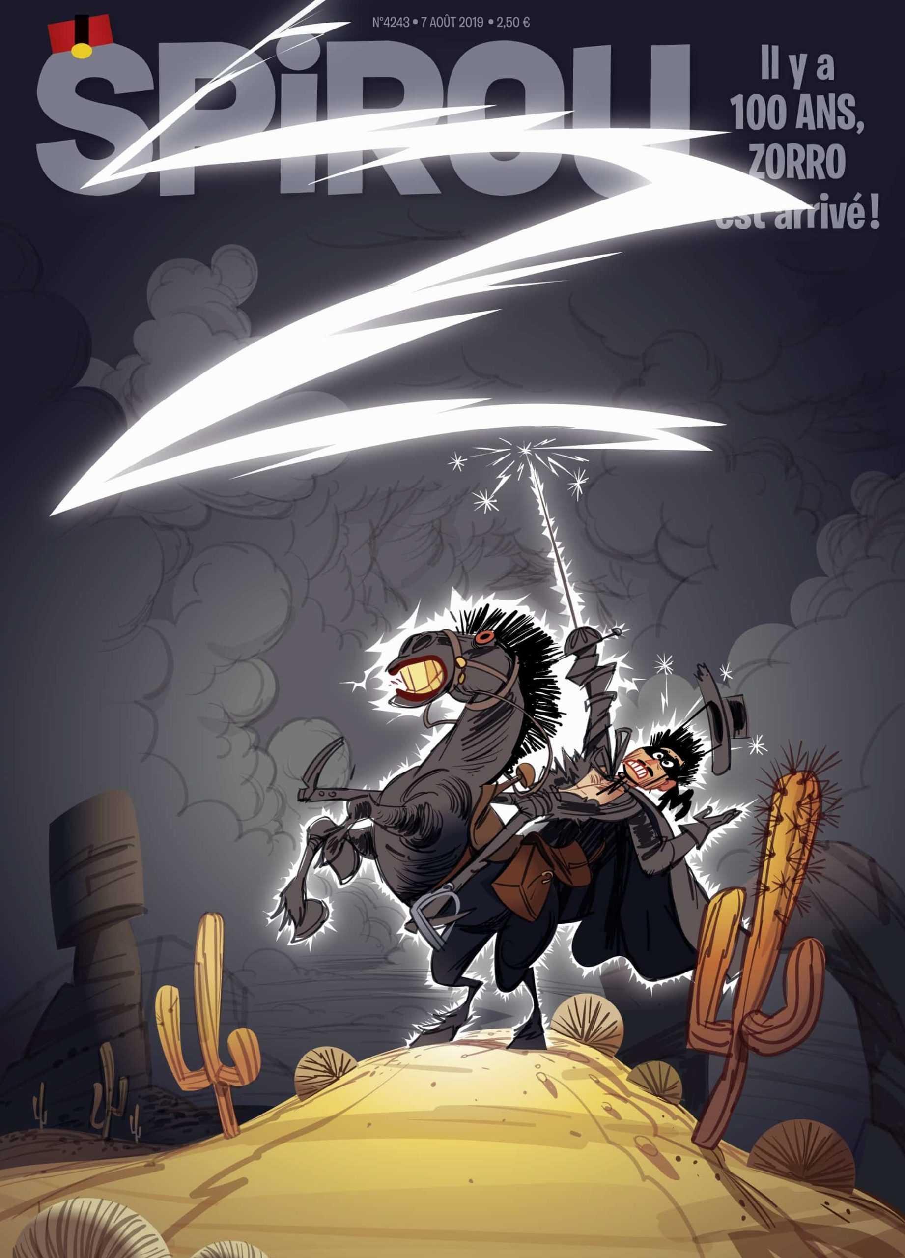 Zorro fête son centenaire dans Spirou