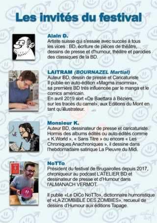 Les auteurs présents