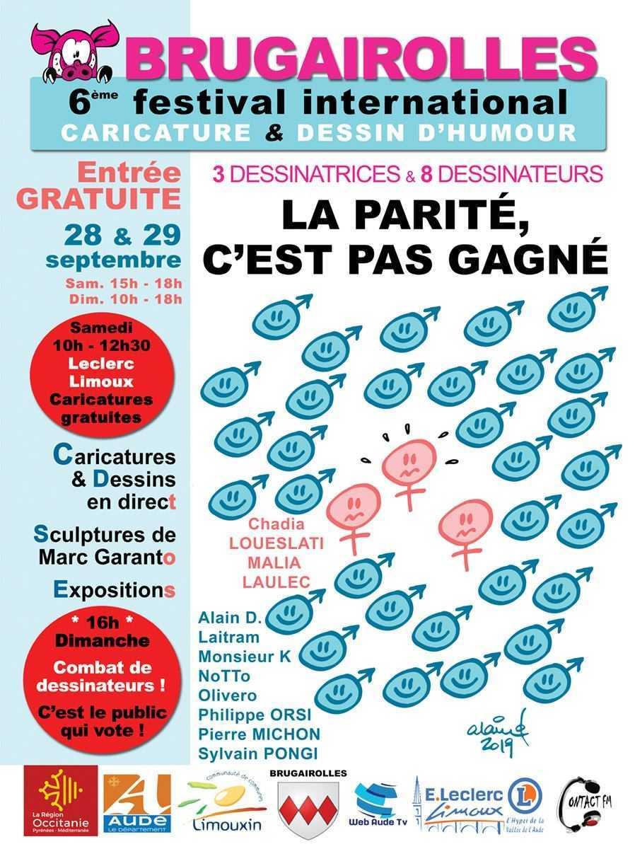 Festival de Brugairolles 28 et 29 septembre 2019, la parité s'invite