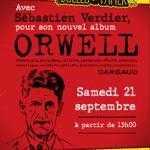 Chez Bulles de Papier à Brive, Verdier en dédicace pour Orwell le 21 septembre 2019