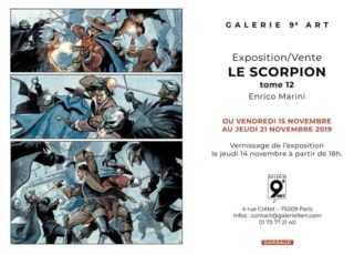 Marini s'expose chez 9e Art à Paris pour le dernier Scorpion dès le 15 novembre 2019