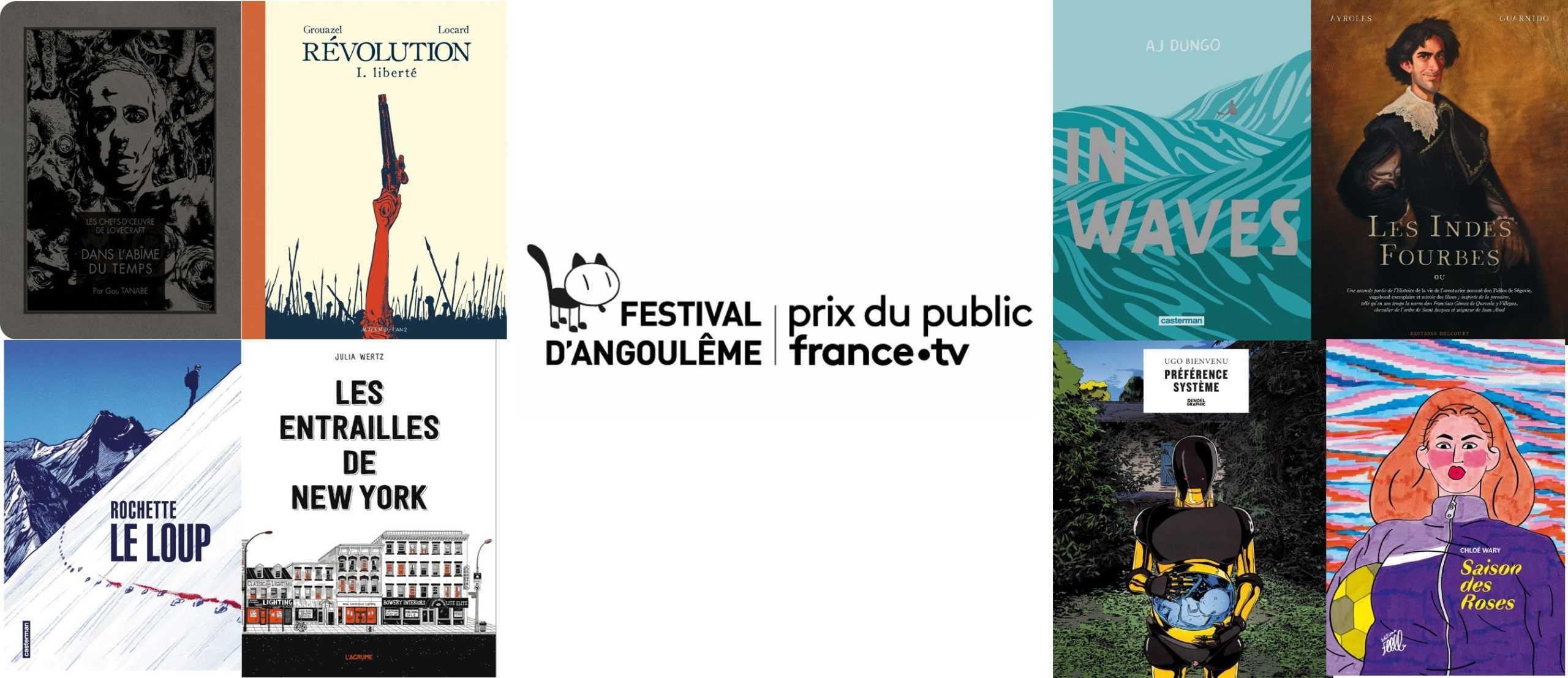 Prix du Public-France TV, les huit nominés pour Angoulême 2020