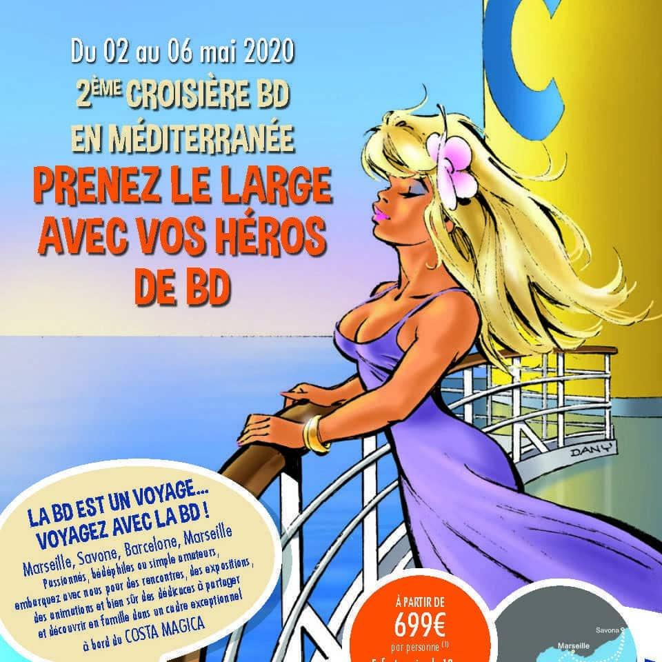 2ème croisière BD en Méditerranée, c'est début mai 2020 avec Pellejero, Marini, Prugne, Jim, Margerin, Meynet ou Keramidas