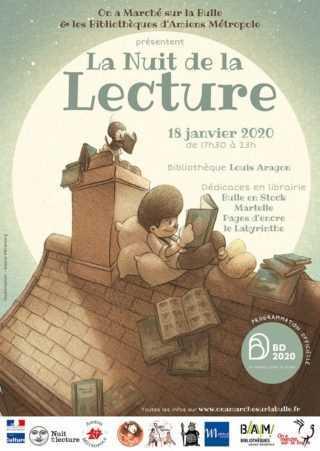 Nuit de la BD et de la lecture, c'est à Amiens le 18 janvier 2020 avec On a marché sur la bulle
