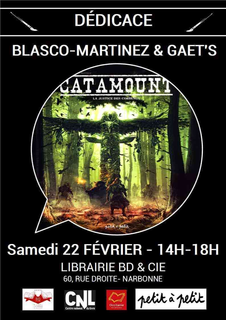 Blasco-Martinez et Gaët's en dédicace à Narbonne pour Catamount le 22 février 2020