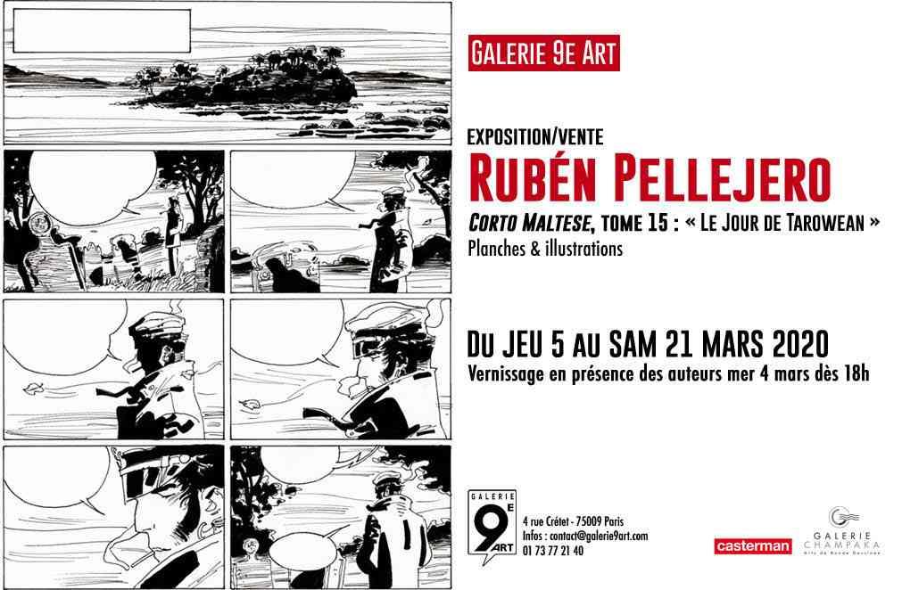 Rubén Pellejero et Corto Maltese s'exposent à Paris à la Galerie du 9e Art dès le 5 mars 2020 avec Le Jour de Tarowean