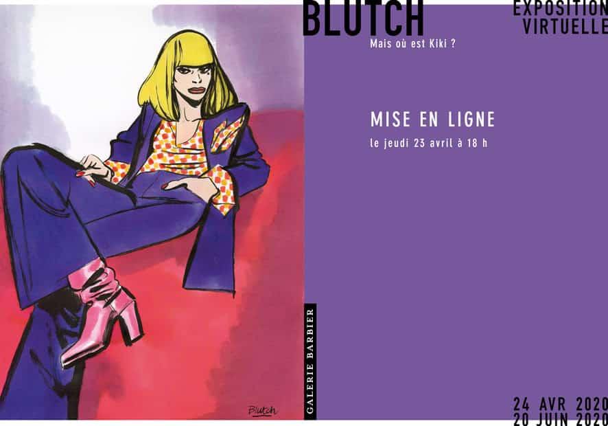 Blutch s'expose virtuellement avec Kiki chez Barbier dès ce 23 avril 2020