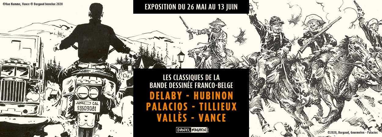 Delaby, Hubinon, Palacios, Tillieux, Vallès, Vance, des classiques chez Maghen le 26 mai