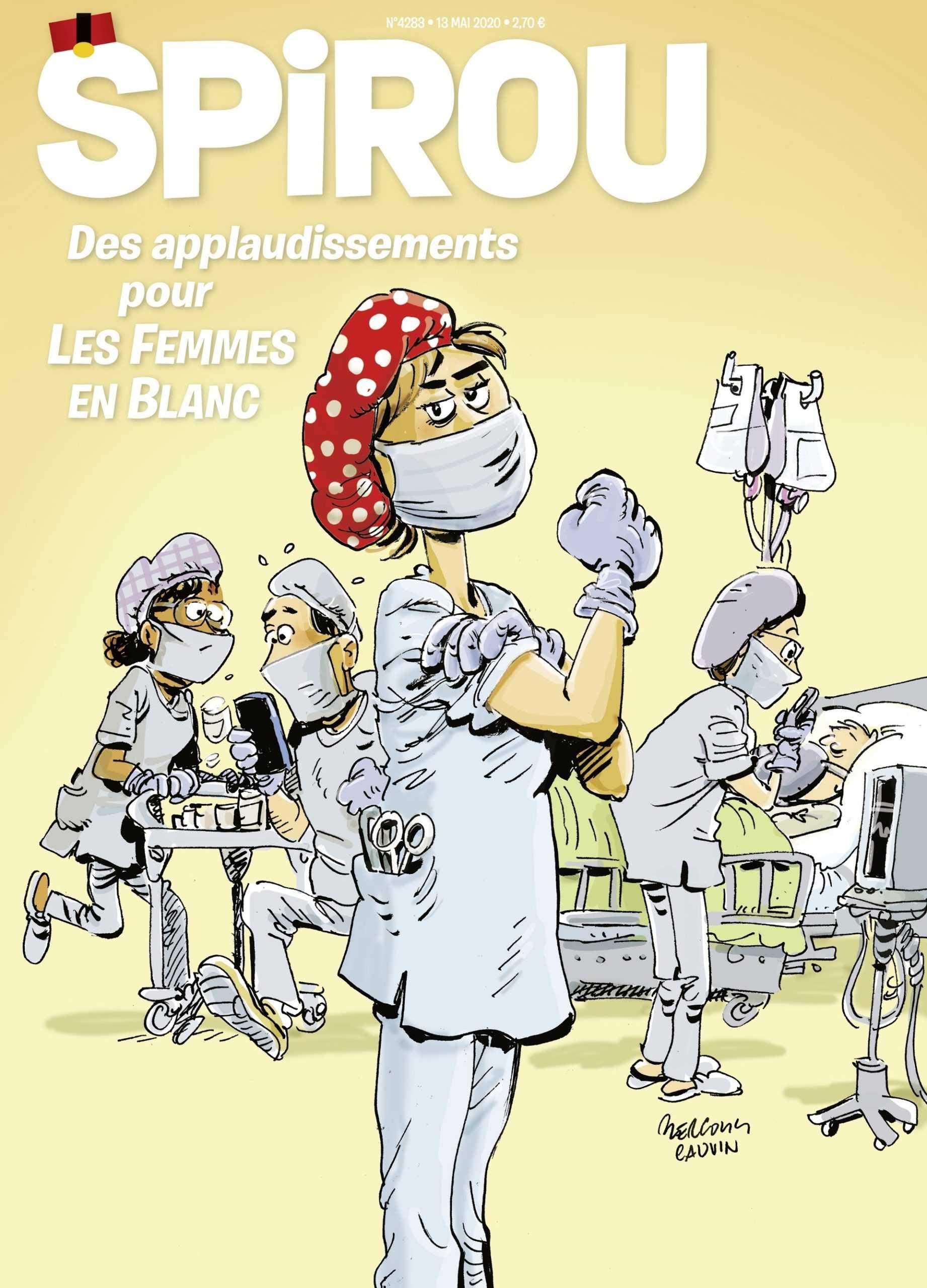Les femmes en blanc à l'honneur du prochain numéro du journal Spirou
