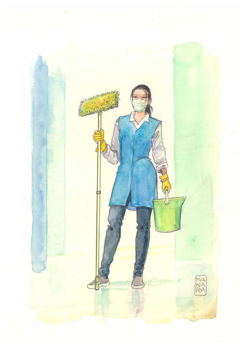 Agente de nettoyage d'hôpital