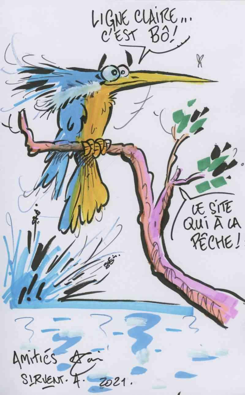 Dédicace d'Alain Sirvent
