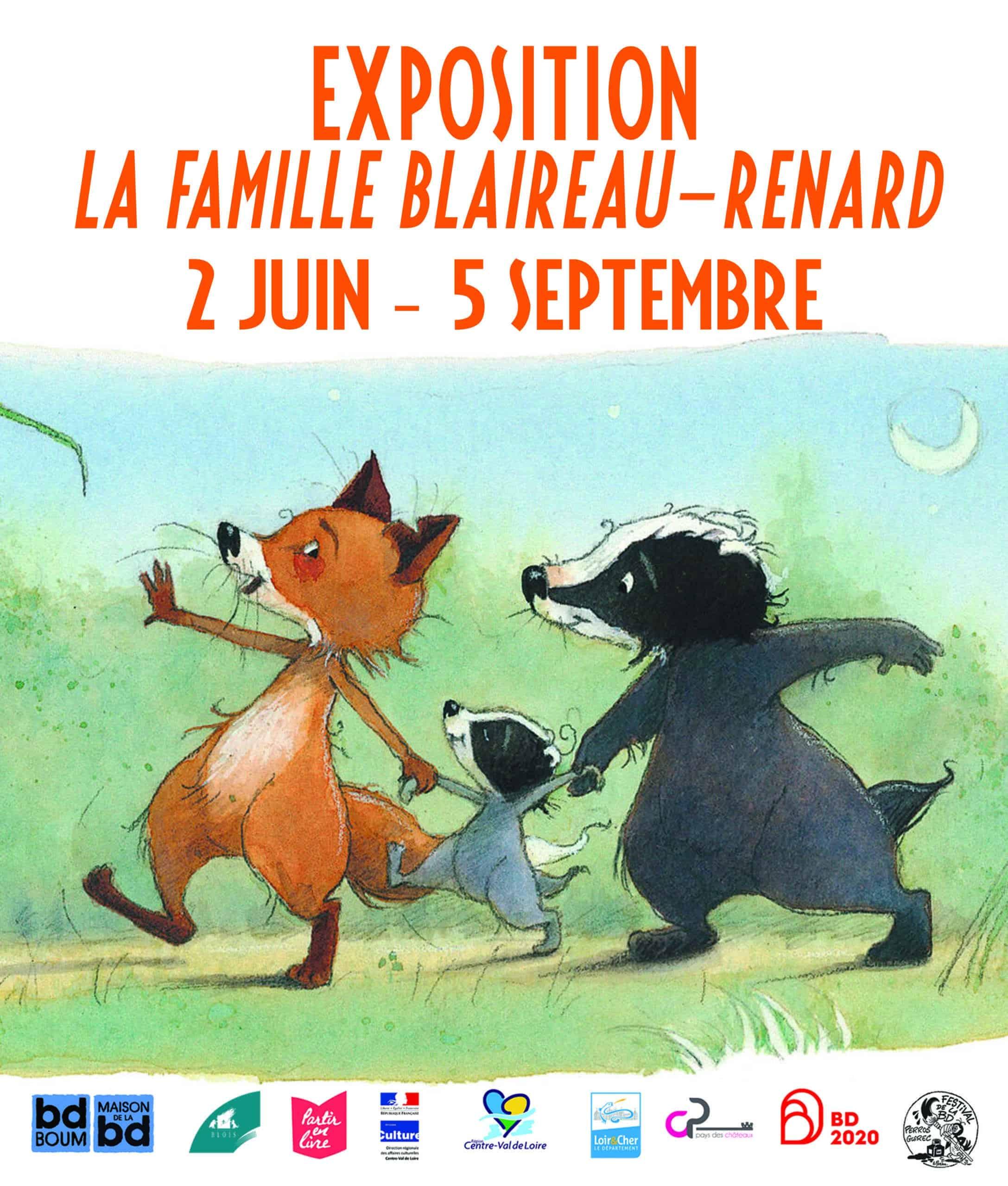 La famille Blaireau-Renard s'expose à Blois jusqu'en septembre 2020
