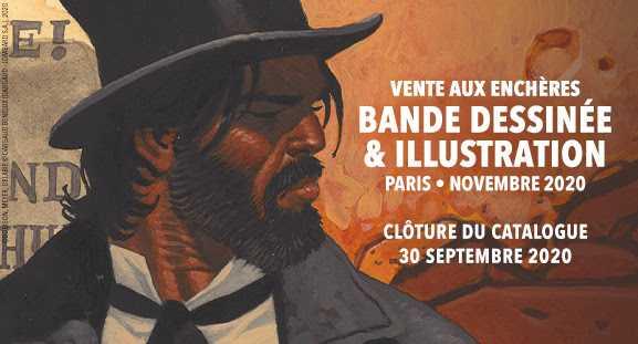 Vente avec Daniel Maghen Enchères, prochain rendez-vous en novembre pour Ralph Meyer, Hergé, Vance, Gimenez ou Juillard