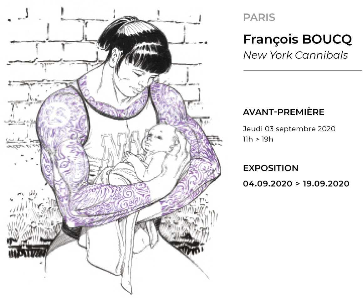 François Boucq expose New York Cannibals du 4 au 19 septembre chez Huberty & Breyne Paris