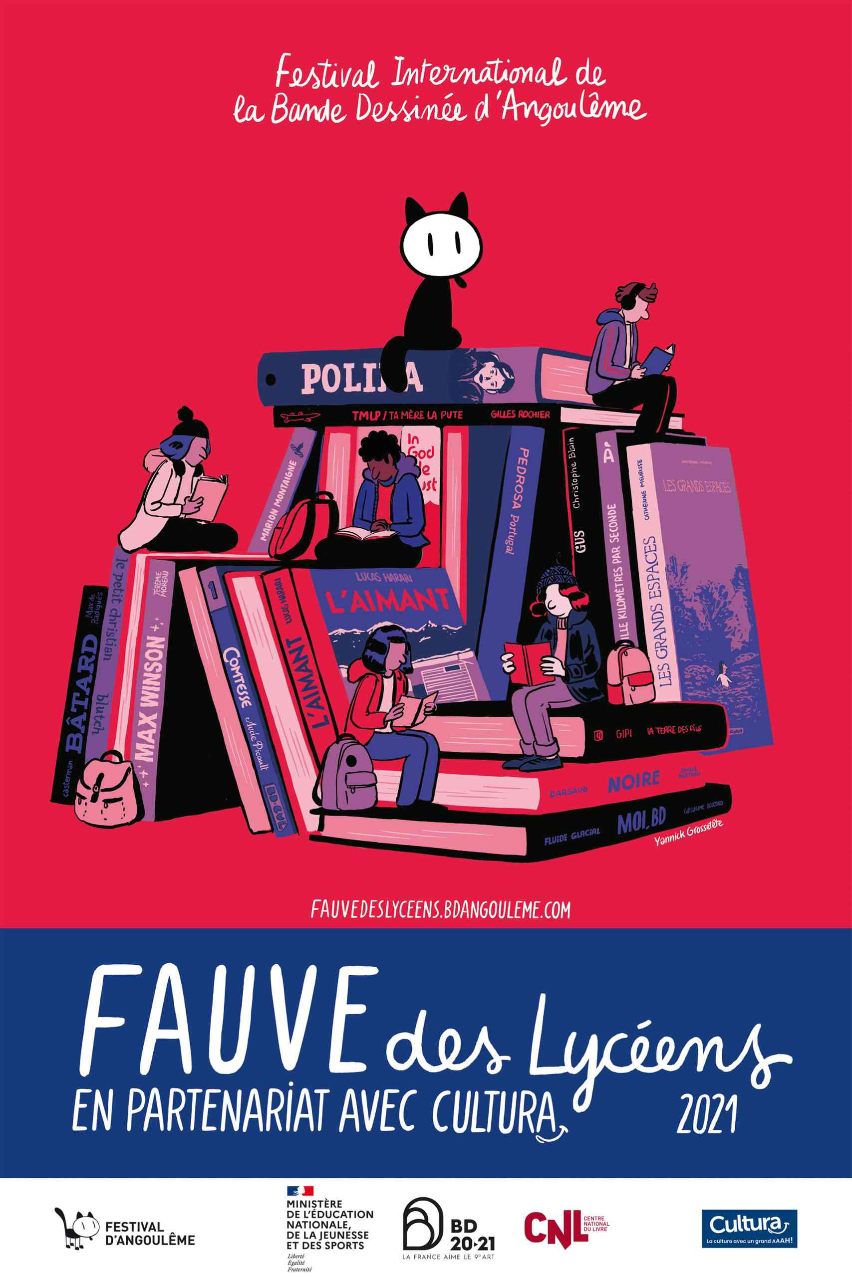 5 titres en lice pour le Fauve des Lycéens à Angoulême