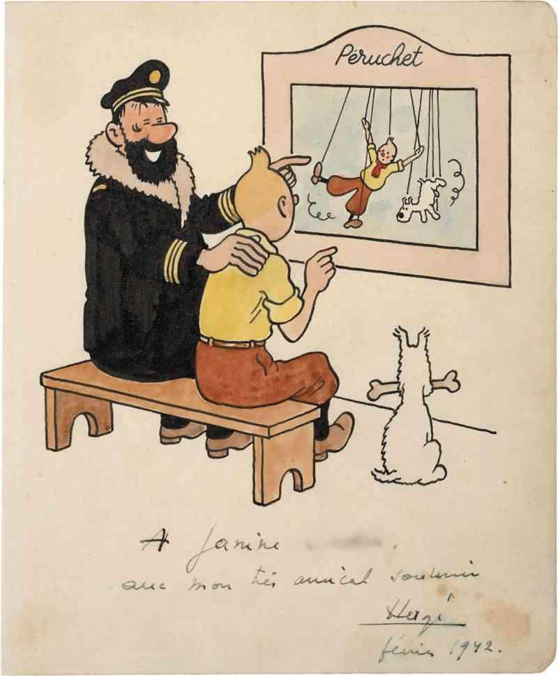 Tintin et Milou au théâtre Péruchet