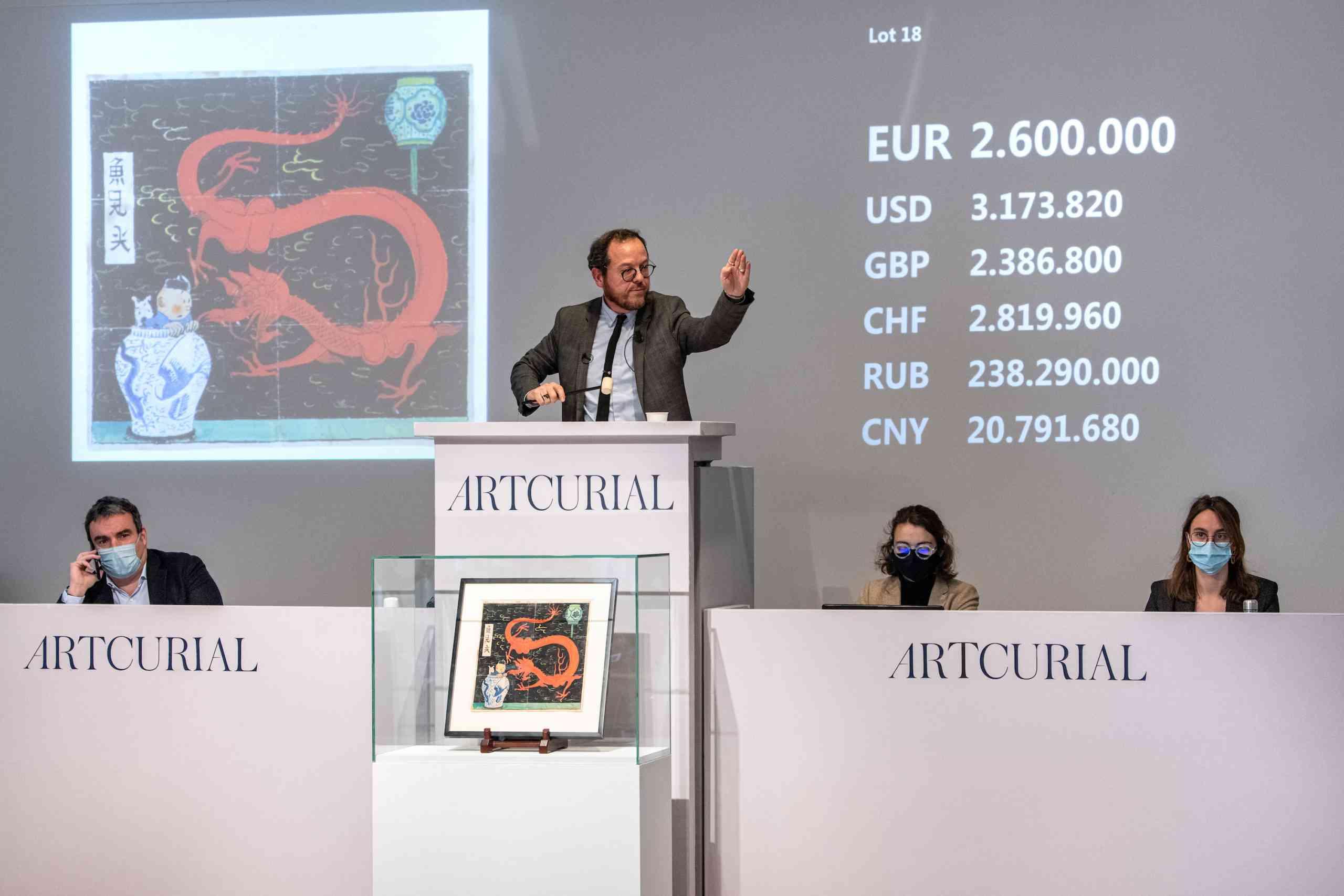 Record : 3,2 M€ frais inclus pour la couverture retrouvée du Lotus Bleu