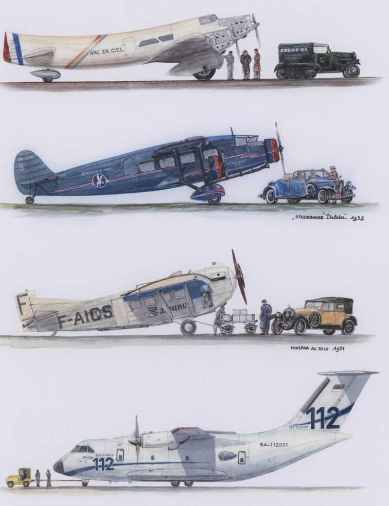 Avions de transports commerciaux civils et militaires
