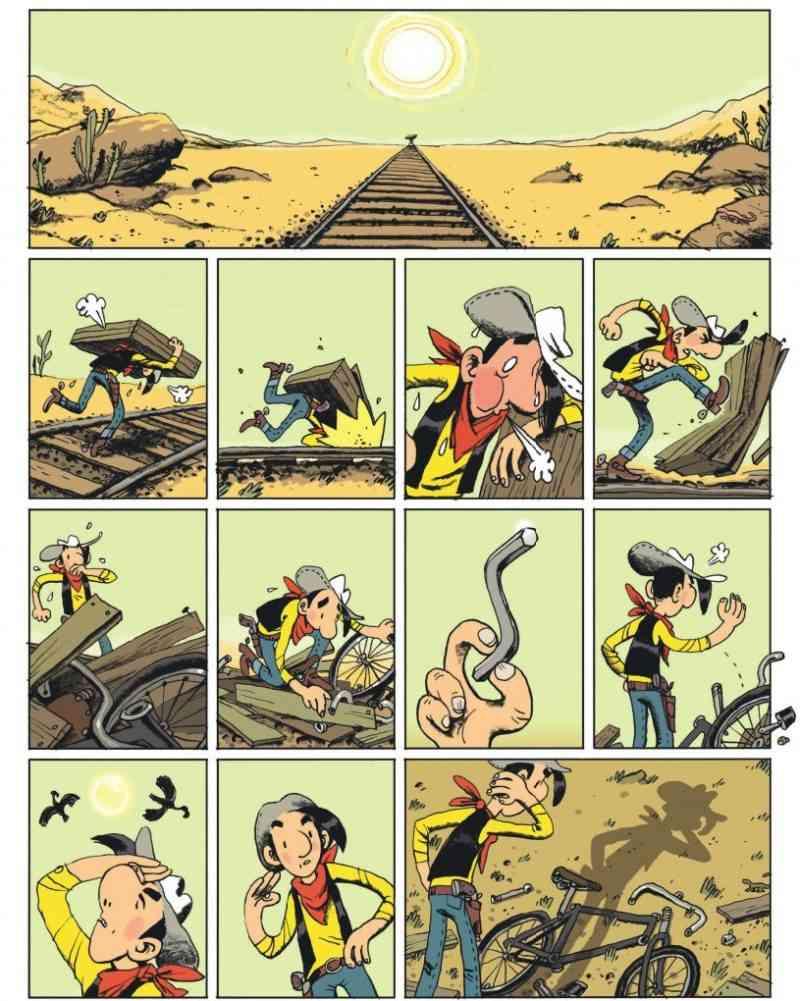 Lucky Luke se recycle