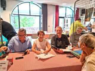 Jean-Laurent Truc, Évelyne Jusseaume et Olivier Mangin
